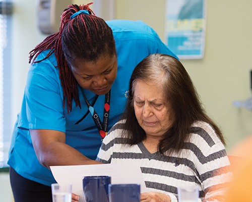 JT enjoys spending time at Circle of Care's Adult Day Program