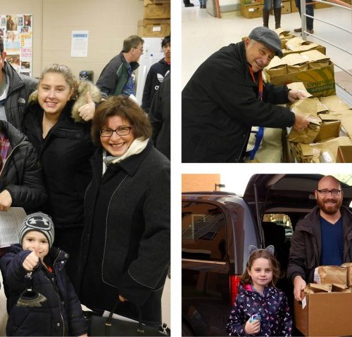 Volunteers deliver a special package of meals to Holocaust survivors before the winter weather hits.
