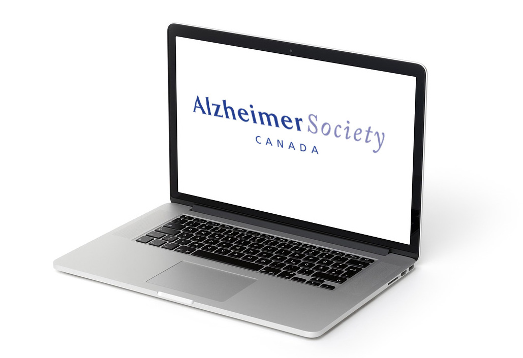 Alzheimer's Society of Canada logo displayed on a computer screen