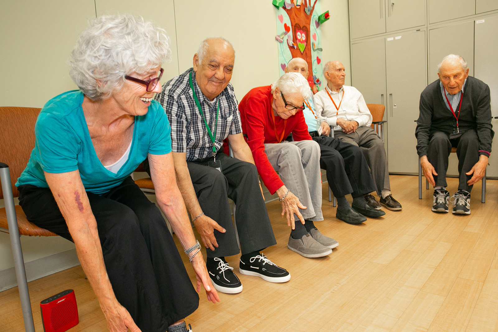 photo of ADP clients exercising