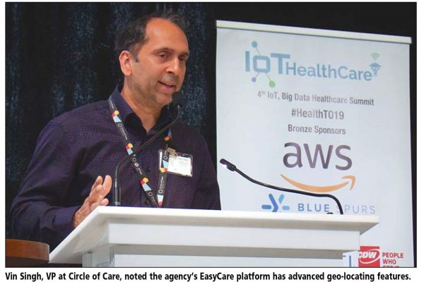 Image of VP Vin Singh presenting about EasyCare.