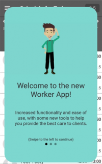 welcome to the new Worker app for PSWs