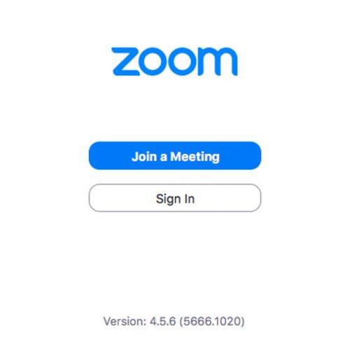 ZOOM login page